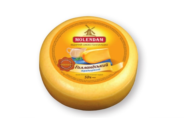 Hard cheese Dutch traditional 50% Molendam