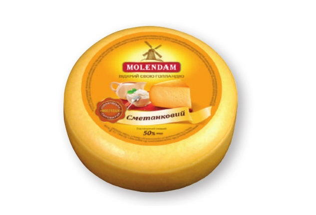 Hard Cheese Smetankovyi 50% TM Molendam