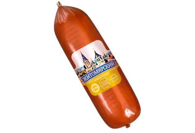 Продукт сирний плавлений ковбасний копчений Житомирський 40%