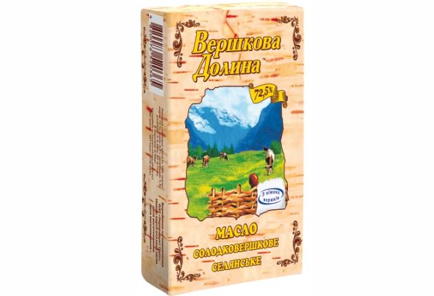 Масло ТМ Вершкова Долина 72,6%