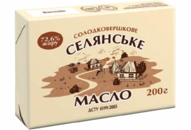 Масло селянське 72,6%