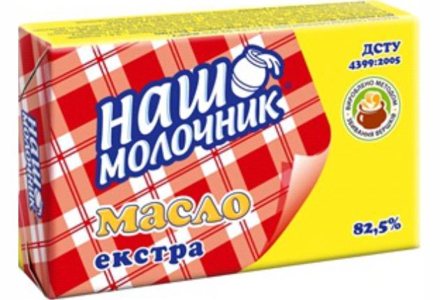 Масло ТМ Наш Молочник 82,5%