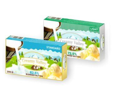 Blended butter TM Creamy Valley 72,5%/ 82,5% milk fat 0,3 & 10%