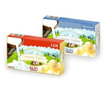 Spread TM Creamy Valley 72,5%/ 82,5% milk fat 25 & 40%