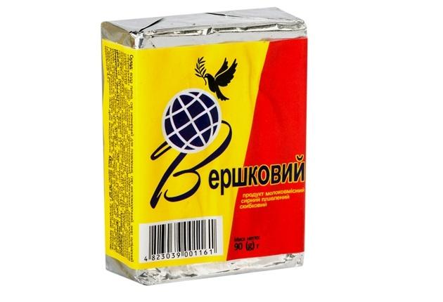 Продукт сирний плавлений Вершковий Глобус брикет